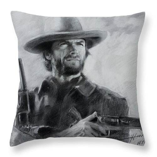 Clint Eastwood Throw Pillow For Sale By Viola El