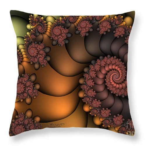 Fractal Throw Pillow featuring the digital art Close To The Earth by Jutta Maria Pusl