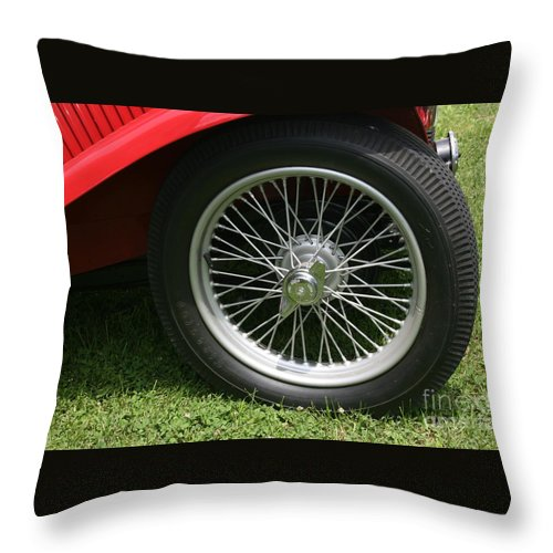 Car Throw Pillow featuring the photograph Close-up Of Past by Dawn Downour