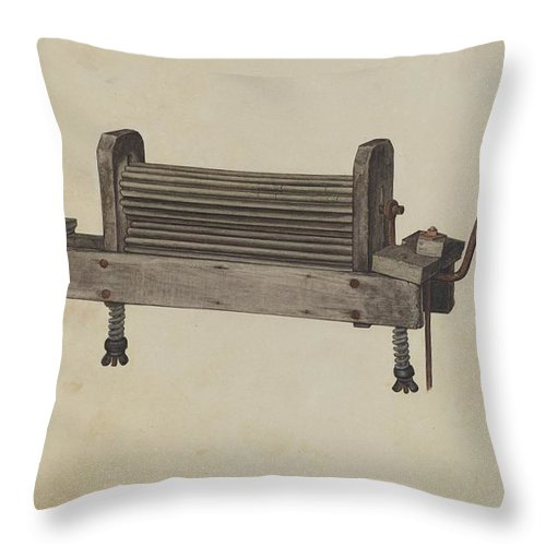Throw Pillow featuring the drawing Clothes Wringer by Herndon Hightower
