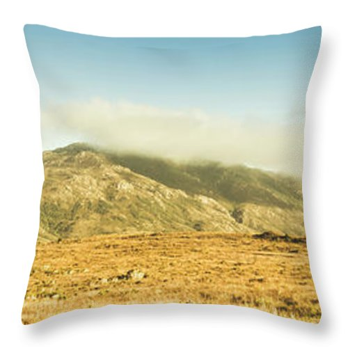 Australia Throw Pillow featuring the photograph Cloud And Mountain Magnificence by Jorgo Photography - Wall Art Gallery