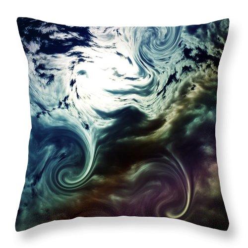 Weather Throw Pillow featuring the digital art Cloud Art by Flavien Gillet