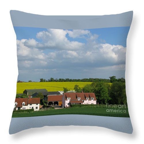 Cloud Throw Pillow featuring the photograph Cloud Cover by Ann Horn