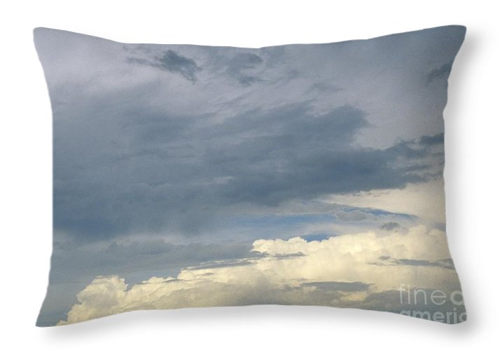 Storm Clouds Throw Pillow featuring the photograph Cloud Cover by Erin Paul Donovan