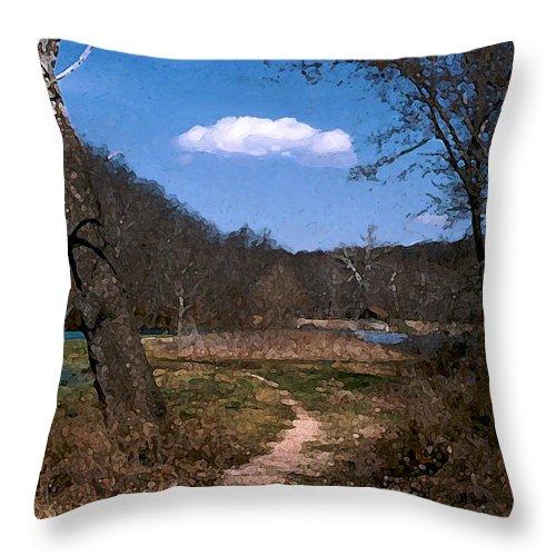 Landscape Throw Pillow featuring the photograph Cloud Destination by Steve Karol