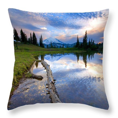 Landscape Throw Pillow featuring the photograph Cloud Explosion by Mike Dawson