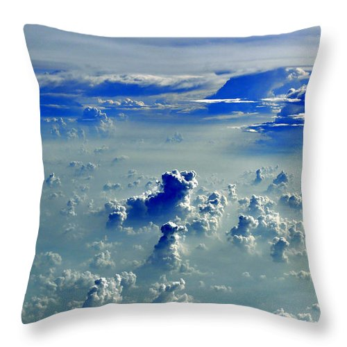 Clouds Throw Pillow featuring the photograph Cloud Formations by Bliss Of Art
