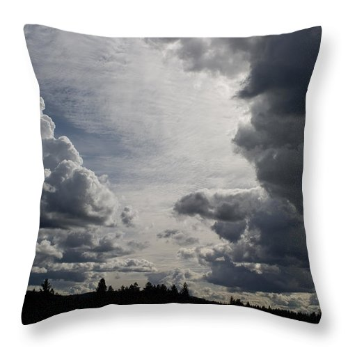 Landscape Throw Pillow featuring the photograph Cloud Study 2 by Lee Santa