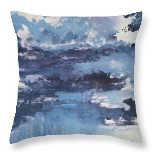 Clouds Throw Pillow featuring the painting Cloud Study by Craig Newland