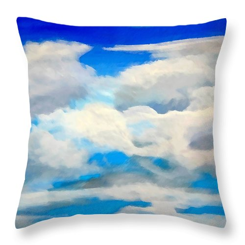 En Plein Air Throw Pillow featuring the painting Cloud Study by Donna Proctor