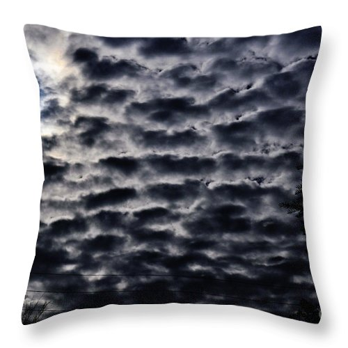 Clay Throw Pillow featuring the photograph Cloud Tiles by Clayton Bruster