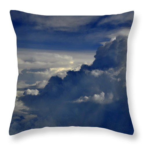 Cloud Throw Pillow featuring the photograph Cloud View by Bliss Of Art
