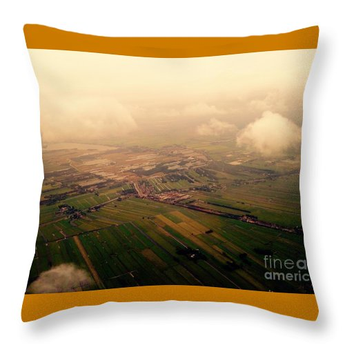 Sky Throw Pillow featuring the photograph Clouds And Mist - Amsterdam by Mioara Andritoiu