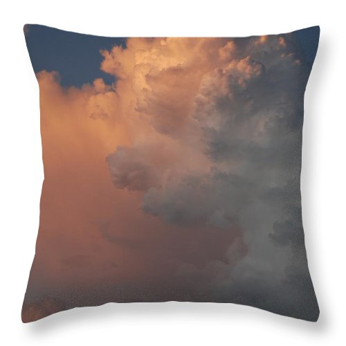 Clouds Throw Pillow featuring the photograph Clouds And More Clouds by Rob Hans