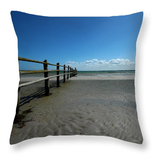 Baltic Sea Throw Pillow featuring the photograph Clouds by Heike Hultsch
