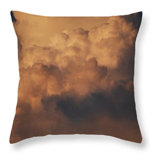 Clouds Throw Pillow featuring the photograph Clouds In Color by Rob Hans