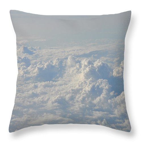 Clouds Throw Pillow featuring the photograph Clouds Like Mountains Of Snow by Bill Cannon