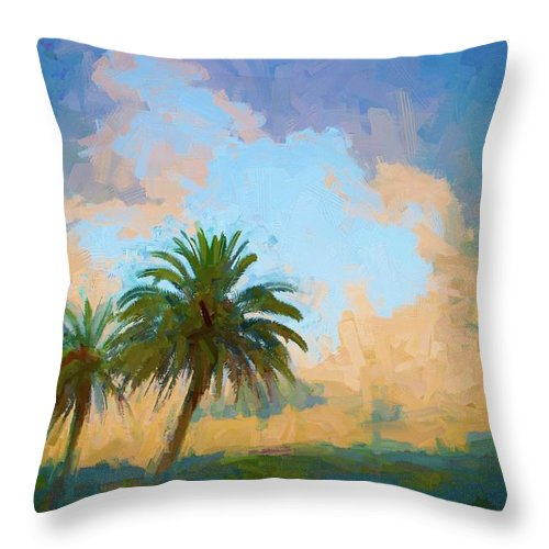 Alicegipsonphotographs Throw Pillow featuring the photograph Clouds On The Loop by Alice Gipson