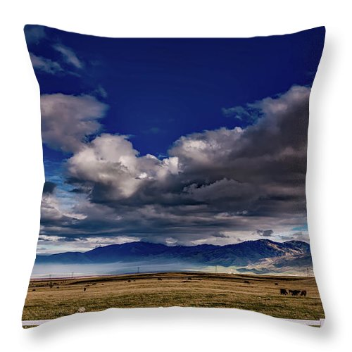 California Throw Pillow featuring the photograph Clouds Over California by Mountain Dreams
