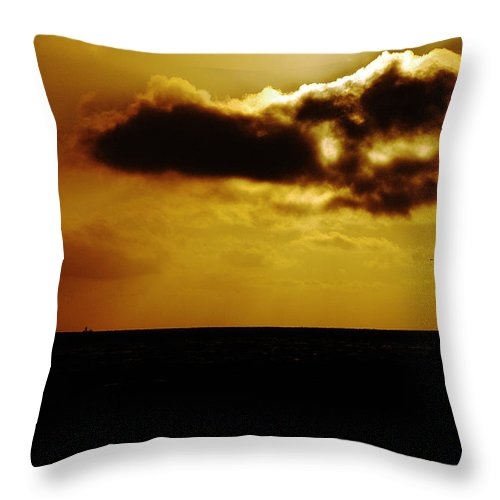 Clay Throw Pillow featuring the photograph Clouds Over The Ocean by Clayton Bruster