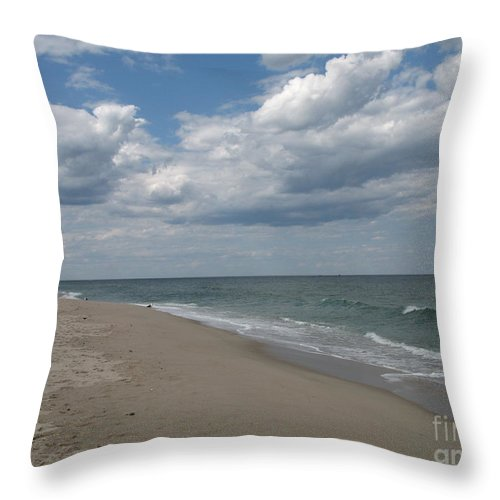 Clouds Throw Pillow featuring the photograph Clouds Over The Sea by Christiane Schulze Art And Photography