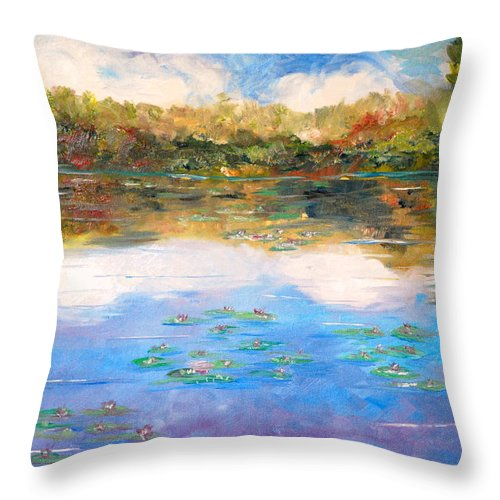 Clouds Throw Pillow featuring the painting Clouds by Phil Burton