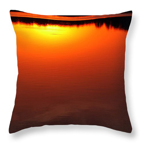 Clay Throw Pillow featuring the photograph Cloudy Sunset by Clayton Bruster