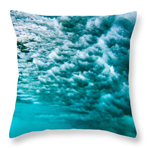 Ocean Throw Pillow featuring the photograph Cloudy Water by JJ Tondo