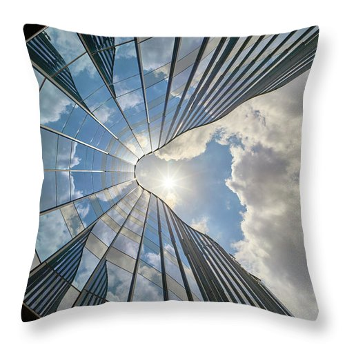 Architecture Throw Pillow featuring the photograph Cloudy Waves by Dmitry Dreyer