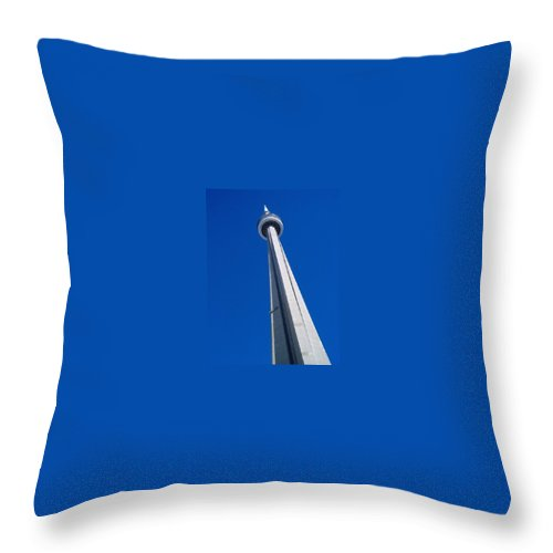 Landscape Throw Pillow featuring the photograph Cn Tower by Debbie Levene