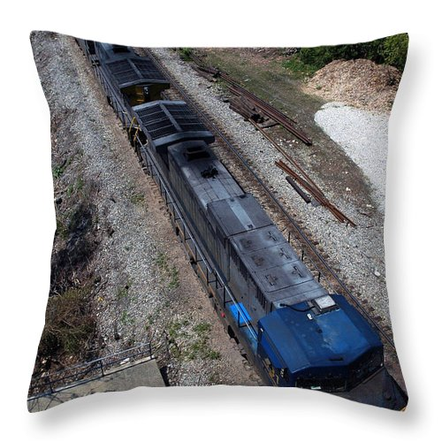 Train Throw Pillow featuring the photograph Coal Crossing by Kelvin Booker