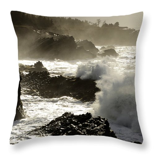 Lighthouse Throw Pillow featuring the photograph Coastline Oregon by Bob Christopher