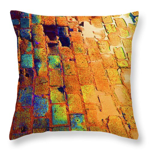 Cobble Stones Throw Pillow featuring the photograph Cobble Stones In Color by Artie Rawls