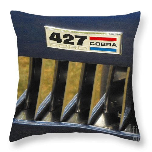 Cobra Throw Pillow featuring the photograph Cobra Medallion by Neil Zimmerman