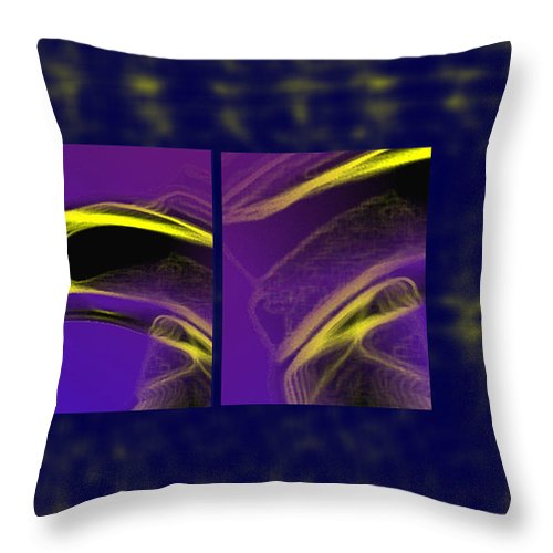 Abstract Throw Pillow featuring the digital art Cobra by Steve Karol
