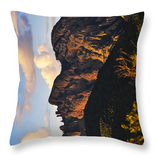Cochise Head Throw Pillow featuring the photograph Cochise Head by Skip Hunt