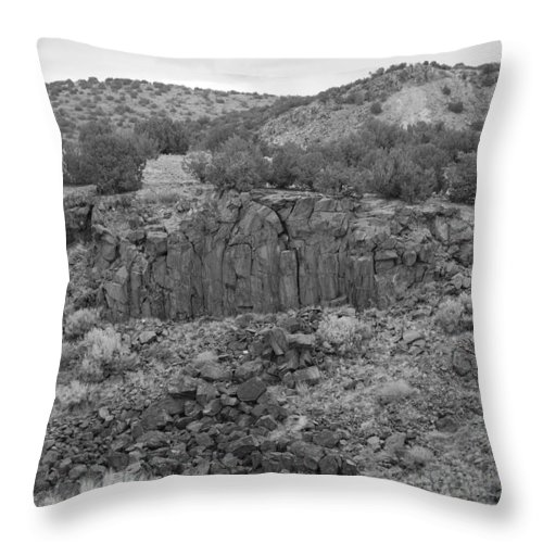 Rocks Throw Pillow featuring the photograph Cochiti Rocks by Rob Hans