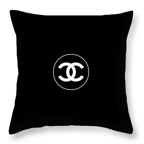 Chanel Throw Pillow featuring the digital art Coco Chanel by Tres Chic