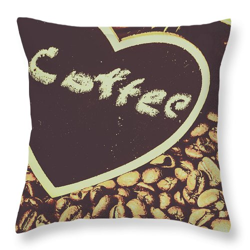 Bean Throw Pillow featuring the photograph Coffee Heart by Jorgo Photography - Wall Art Gallery