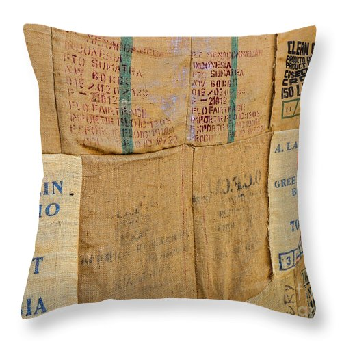 Nobody Throw Pillow featuring the photograph Coffee by Mim White
