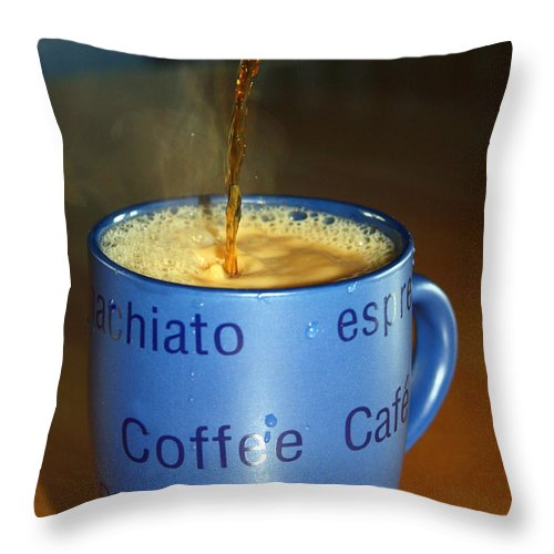 Coffee Throw Pillow featuring the photograph Coffee Please by Cathy Beharriell