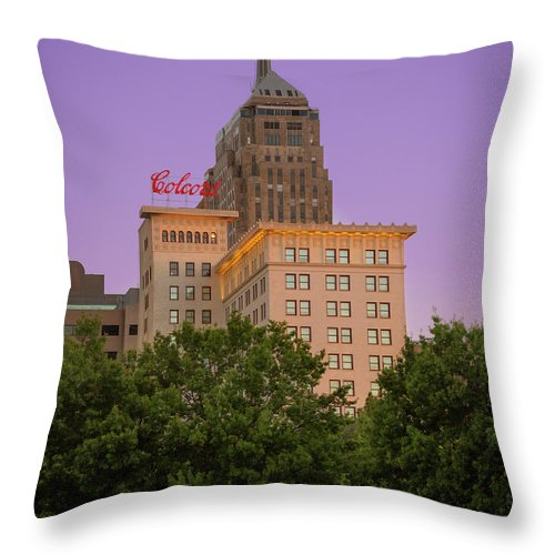Okc Throw Pillow featuring the photograph Colcord II by Ricky Barnard