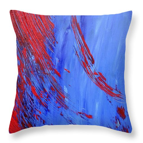 Abstract Throw Pillow featuring the painting Cold Blooded by Christina McNee-Geiger