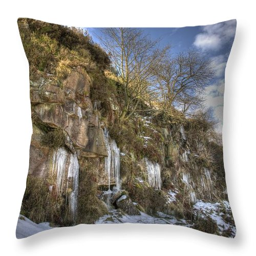 Cold Throw Pillow featuring the photograph Cold Day In The Valley 5 by David Birchall