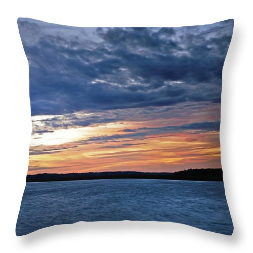 Sunset Throw Pillow featuring the photograph Cold Front by Phill Doherty