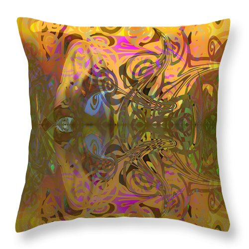 Abstract Throw Pillow featuring the digital art Cold Light Of Day by Grant Wilson