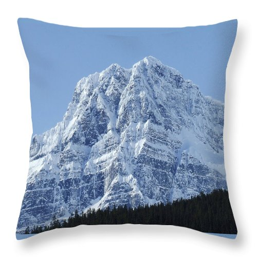 Cold Throw Pillow featuring the photograph Cold Mountain- Banff National Park by Tiffany Vest