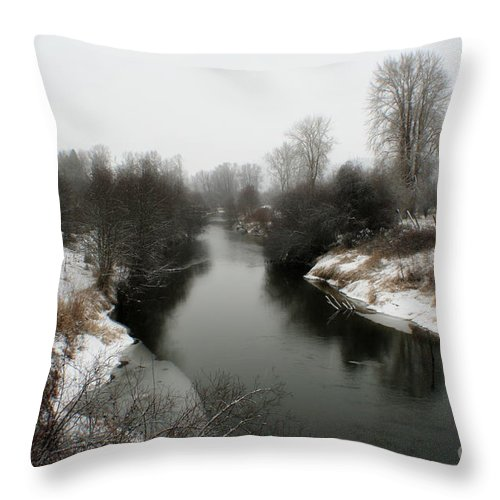 River Throw Pillow featuring the photograph Cold River by Idaho Scenic Images Linda Lantzy