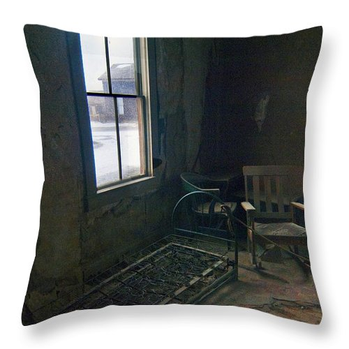 Bodie California Throw Pillow featuring the photograph Cold Window Light by Norman Andrus