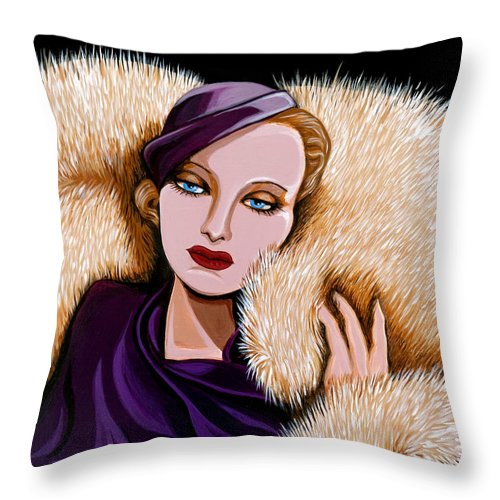 Painting Throw Pillow featuring the painting Colette by Tara Hutton